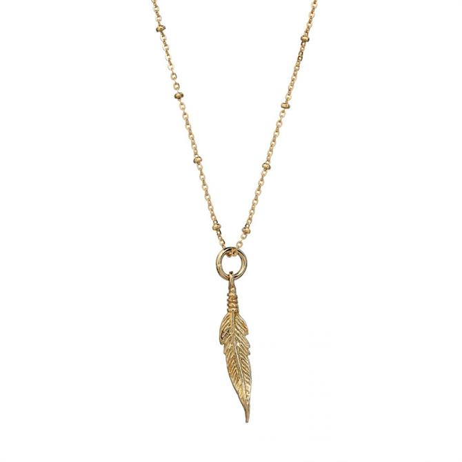 Mirabelle Feather Pendant Necklace