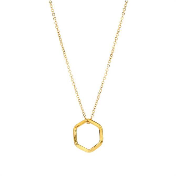 Mirabelle Hexagon Pendant Necklace