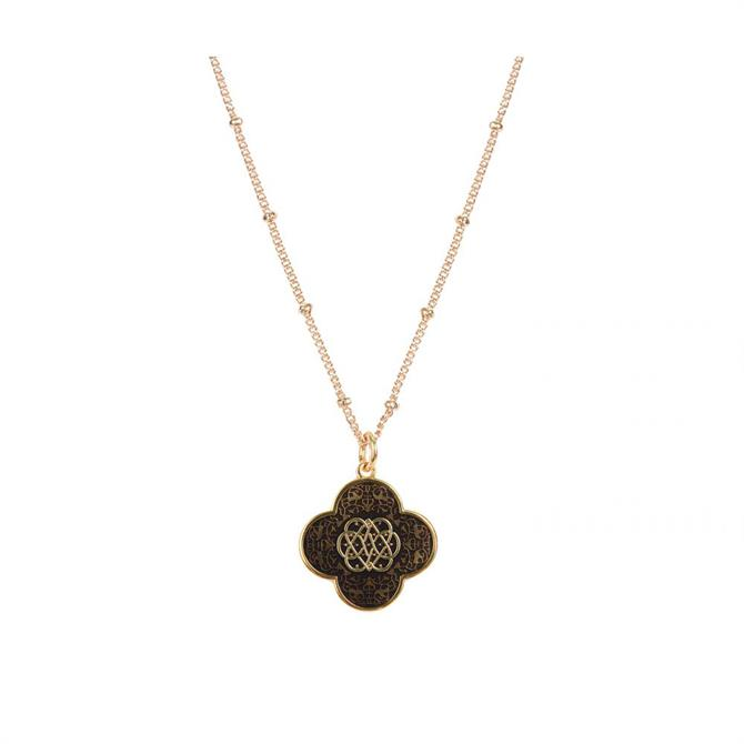 Mirabelle Double Sided Infinity Spirit Enamel Medal Necklace on a Biba Chain