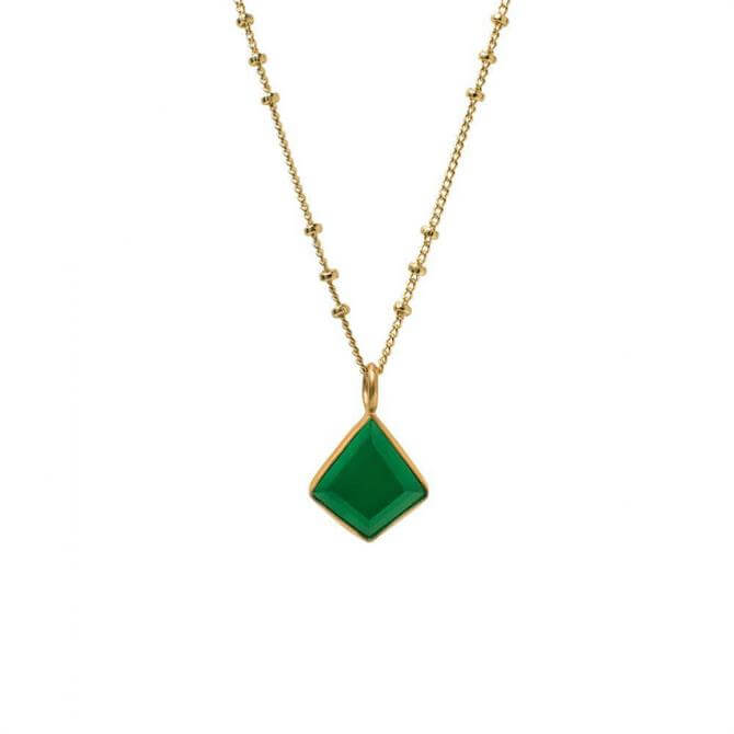 Mirabelle Green Onyx Losange Necklace