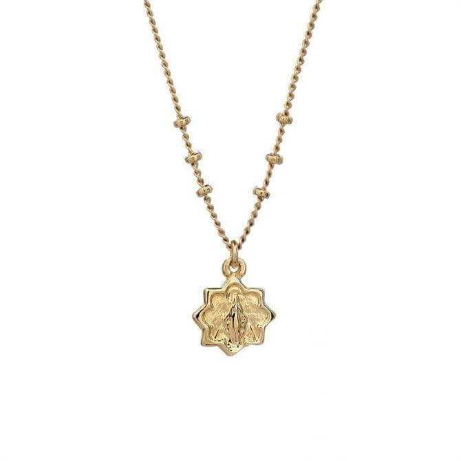 Mirabelle Double Sided Mary Star Medal Necklace