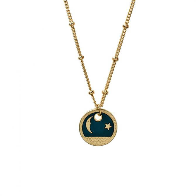 Mirabelle Moon Star Medal Necklace