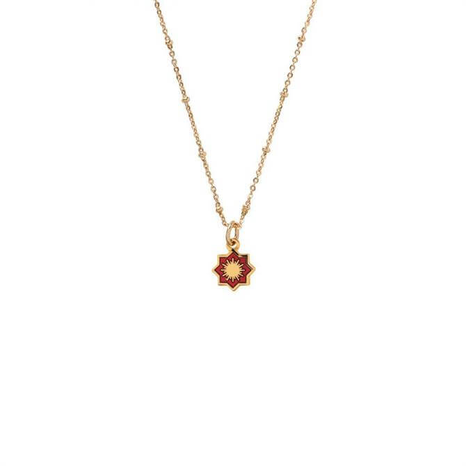 Mirabelle Sun in Star Medal Necklace