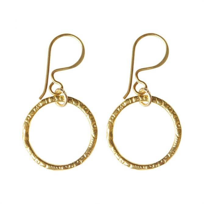 Mirabelle Victorian Creole Gold Plated Earrings