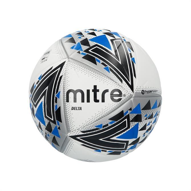 Mitre Delta FIFA Pro Quality Football- White/Black/Blue