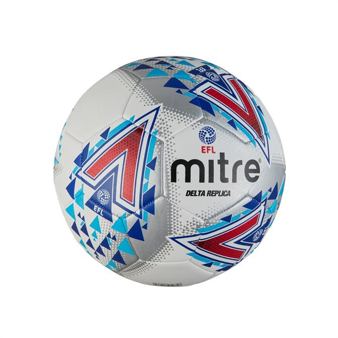 Mitre Official Replica EFL Delta Football- White/Red/Blue