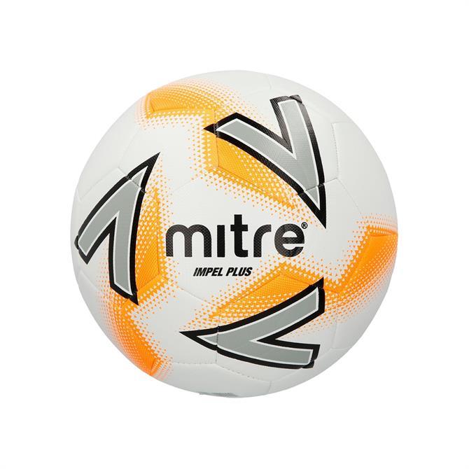 Mitre Impel Plus 30  Football- White/Silver/Orange