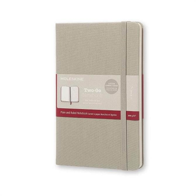 Moleskine Two Go Medium Ruled Plain Notebook