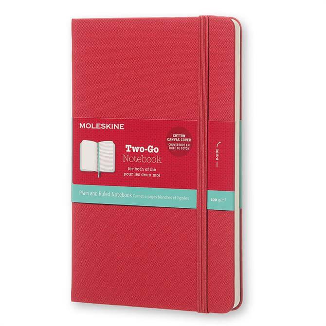 Moleskine Two Go Medium Ruled Plain Notebook
