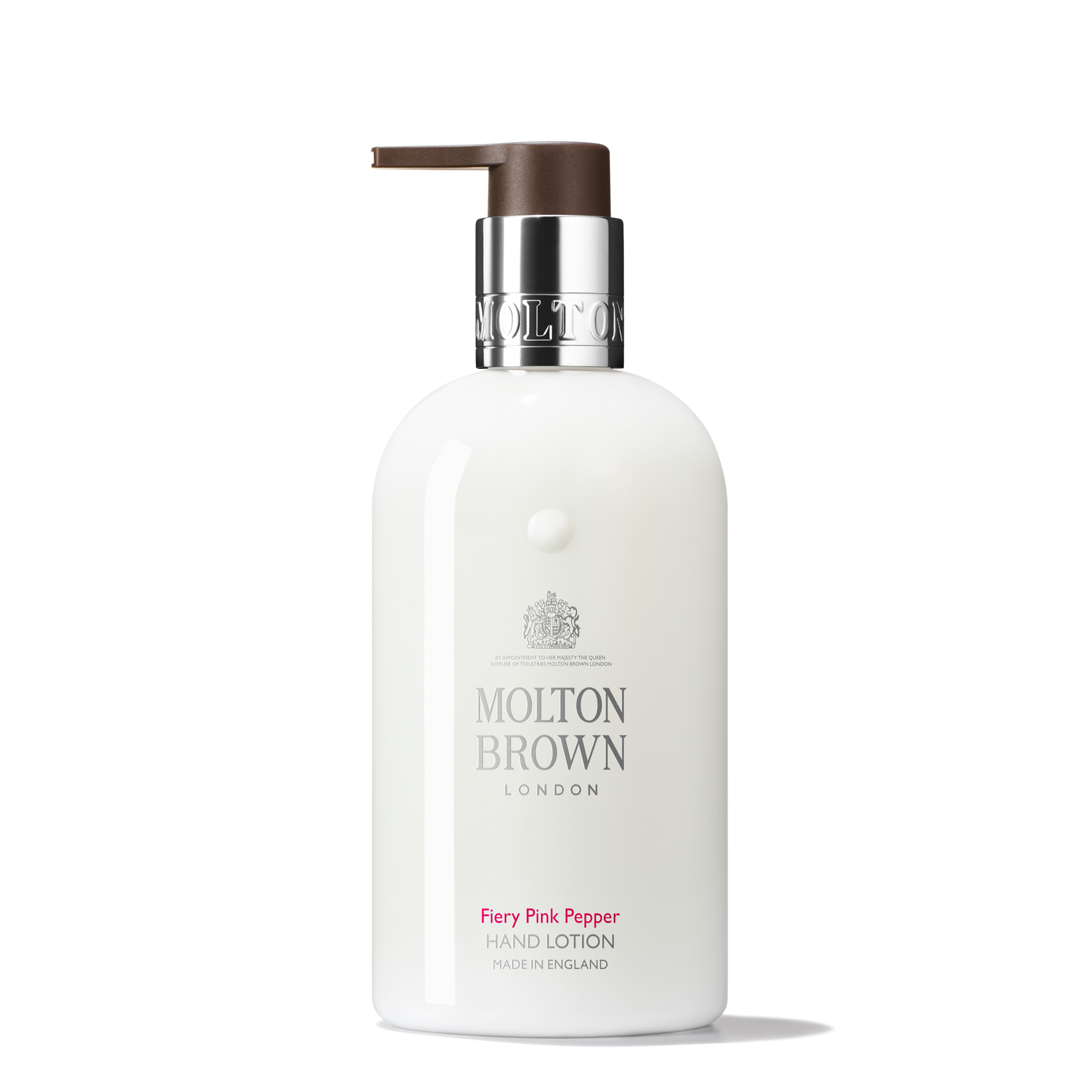 An image of Molton Brown Fiery Pink Pepper Hand Lotion 300ml - FIERY PINK PEPPER