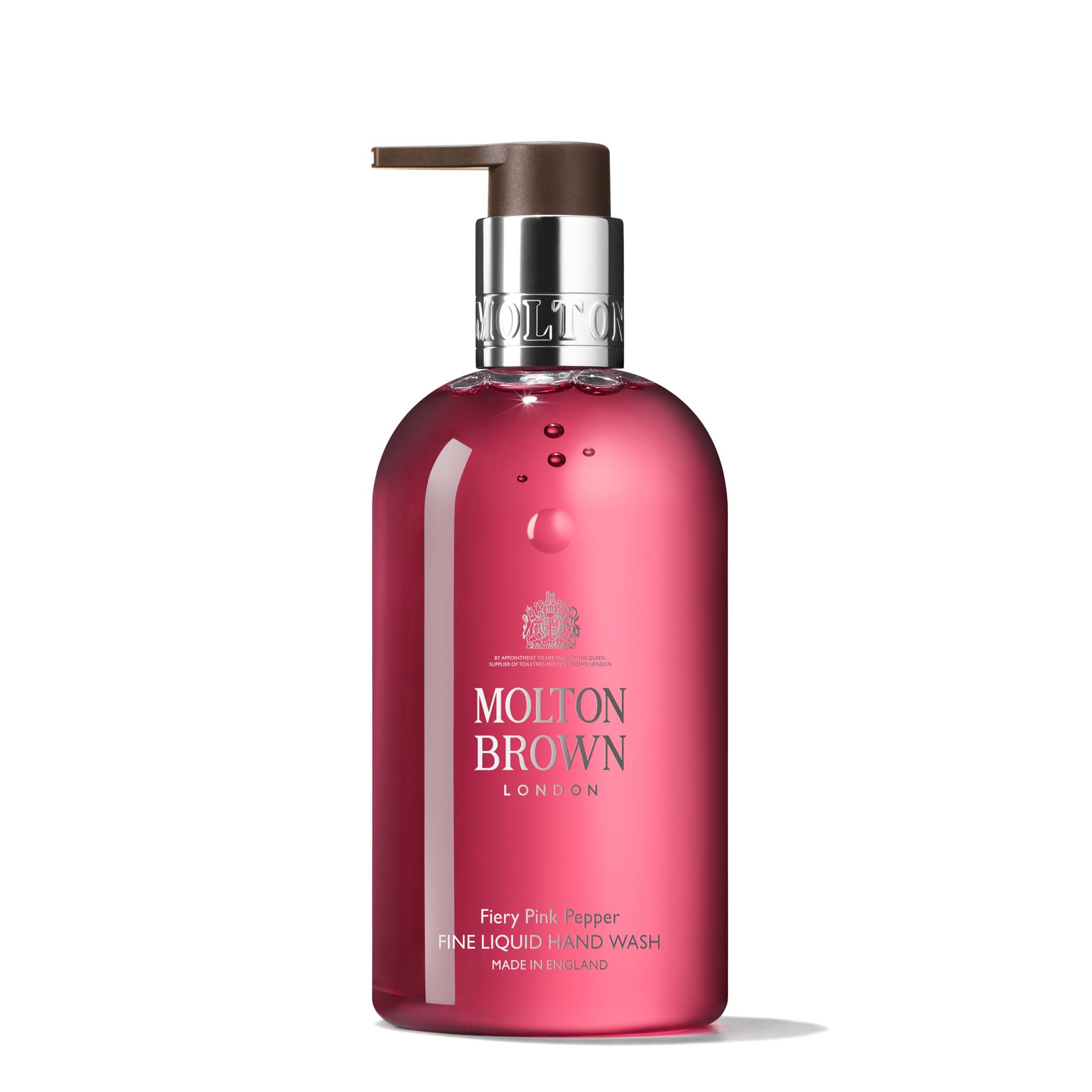 An image of Molton Brown Fiery Pink Pepper Fine Liquid Hand Wash 300ml - FIERY PINK PEPPER