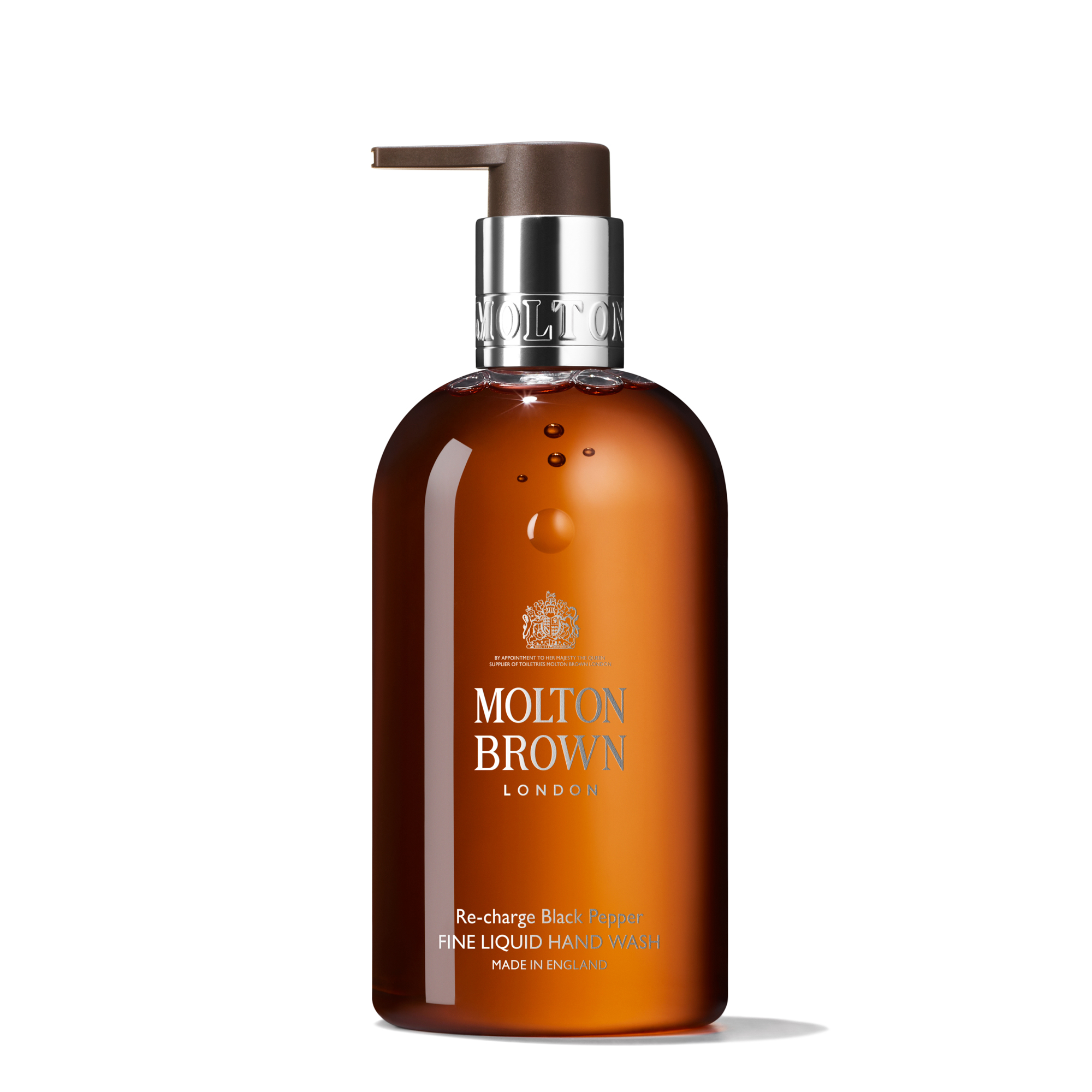An image of Molton Brown Re-charge Black Pepper Fine Liquid Hand Wash 300ml - RE-CHARGE BLAC...