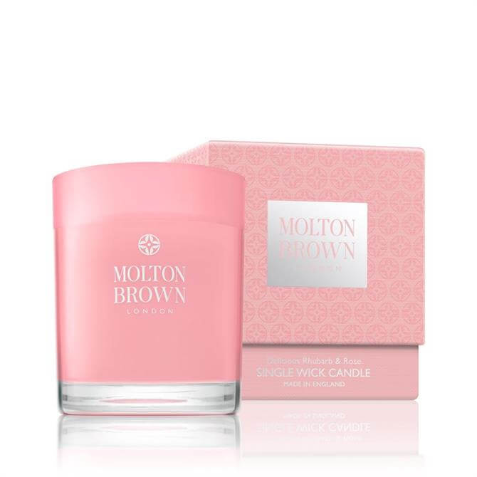Molton Brown Single Wick Rhubarb and Rose Candle