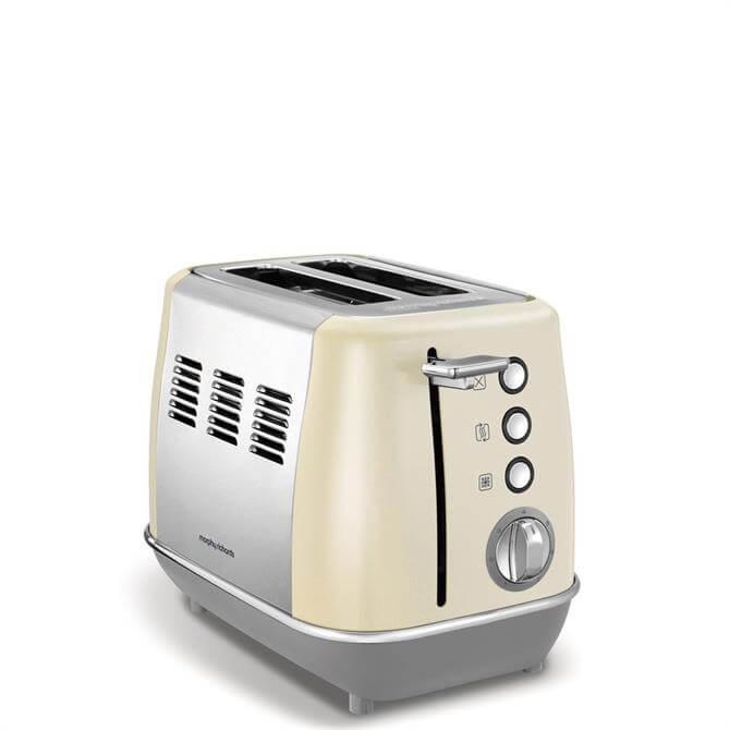 Morphy Richards Evoke Cream 2 Slice Toaster