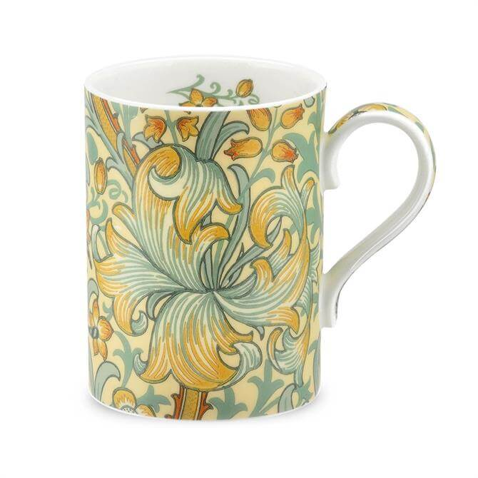 Morris & Co Golden Lilly Slate and Manilla Mug
