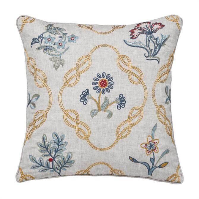 Morris & Co Strawberry Thief Brown Cushion