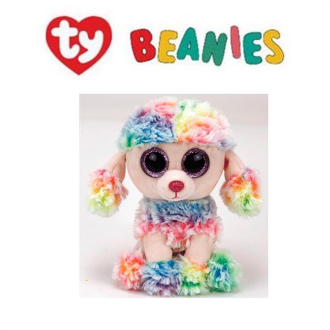 Ty Rainbow Multicoloured Poodle Boo Buddy Medium