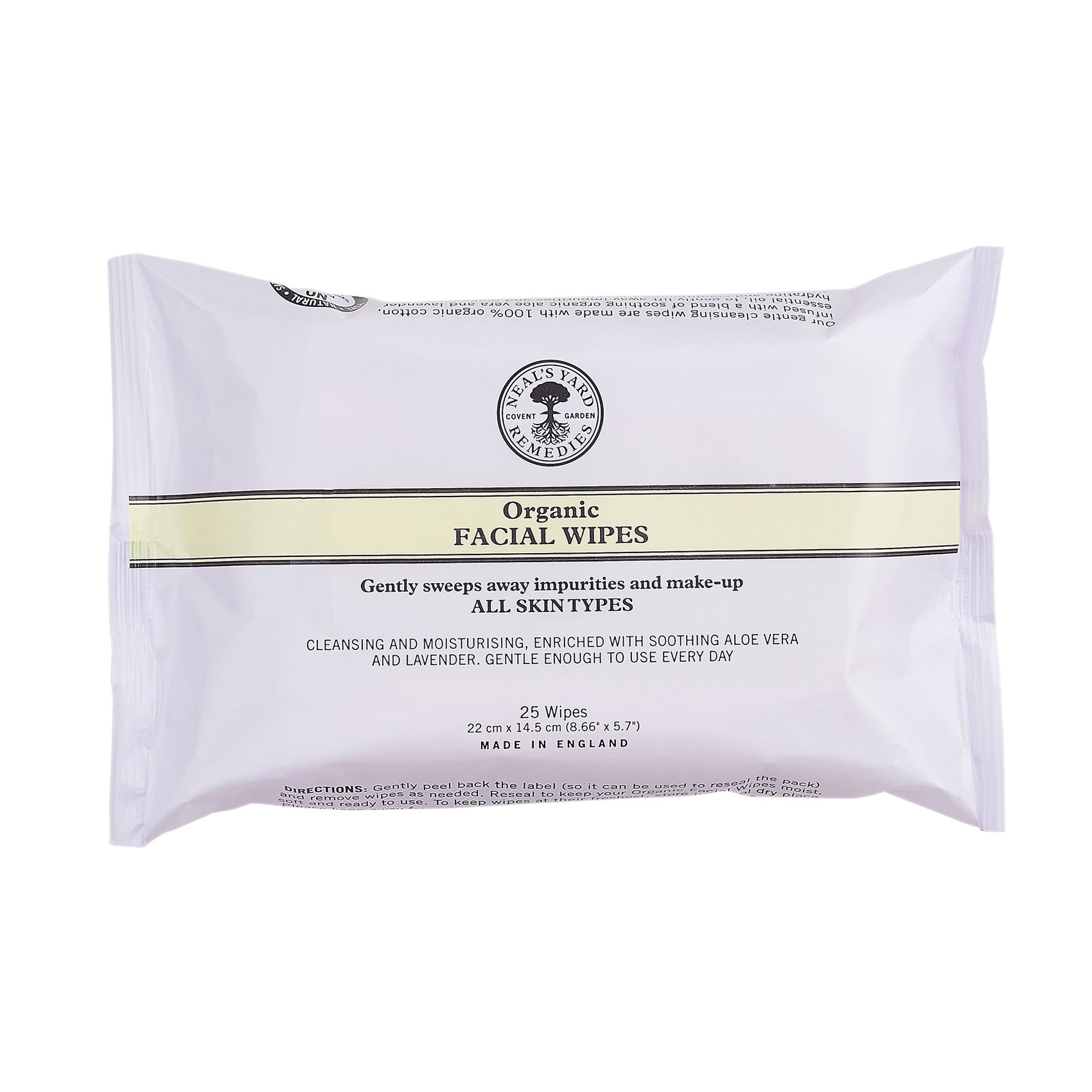 An image of Neal's Yard Remedies Organic Facial Wipes