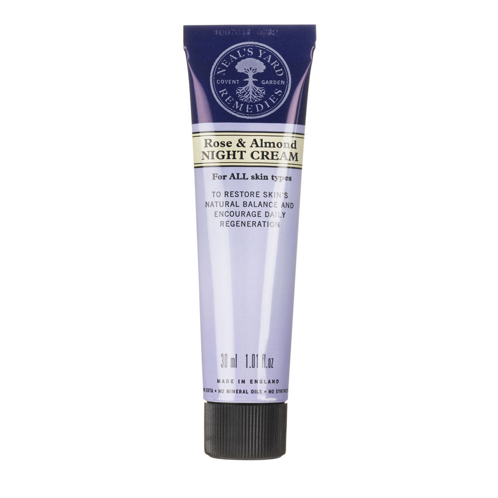 An image of Neal's Yard Remedies Rose and Almond Night Cream 30g - ROSE & ALMOND
