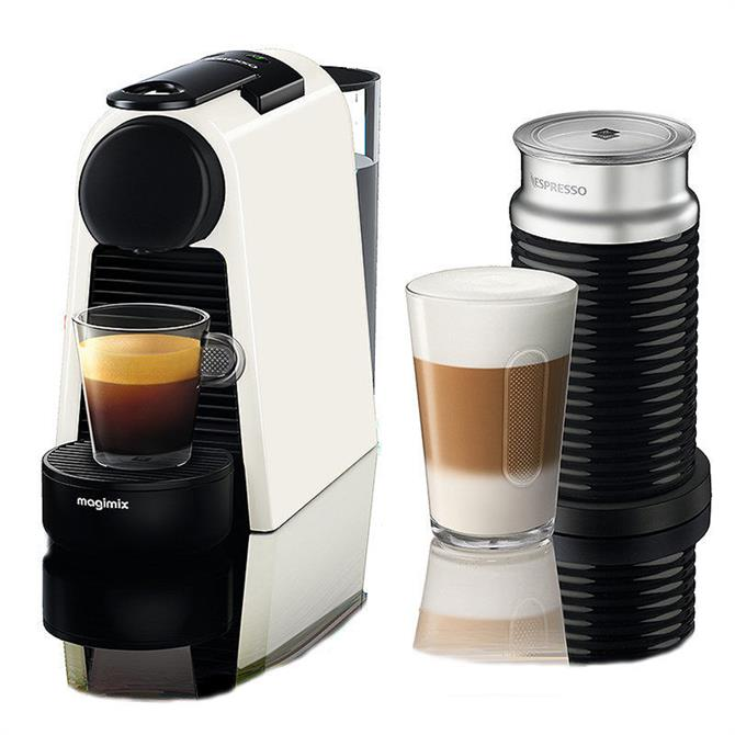 Magimix Nespresso Essenza Mini Coffee Machine With Aeroccino: White