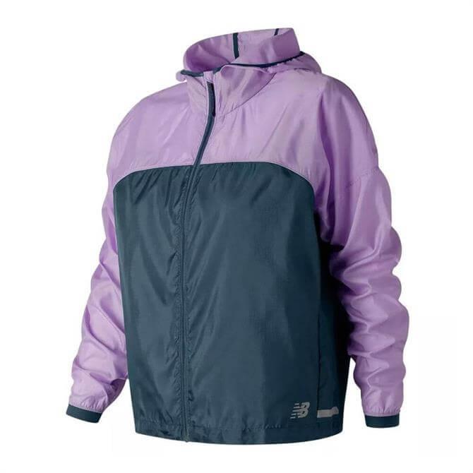 New Balance Women's Lite Running Packjacket 2.0 - Violet