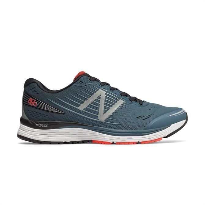 New Balance Men's 880v8 Running Shoes - Petrol/Flame