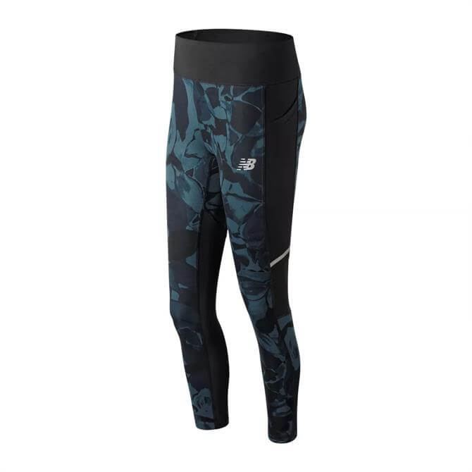 New Balance Women's Premium Printed Impact Tight - North Sea
