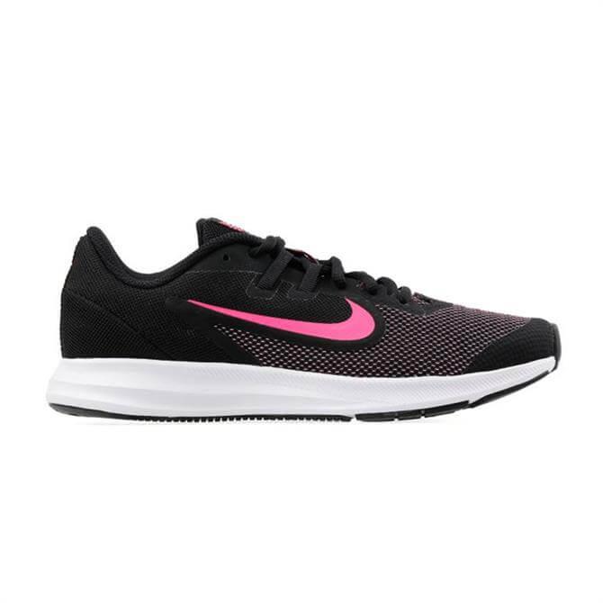 Nike Older Kid's Downshifter 9 Running Shoes - Black/Hyper Pink