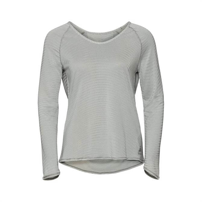 Odlo Women's Alma Long Sleeve Crew Neck Top - Light Grey