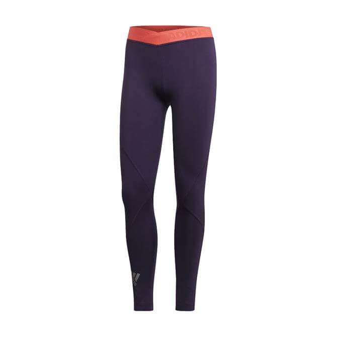 Adidas Women's Alphaskin Sport 2.0 Embossed Tights - Legend Purple