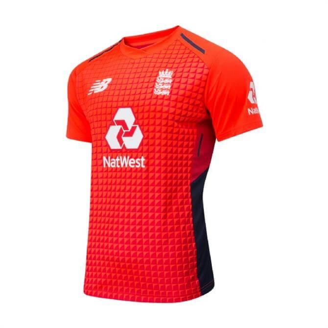 New Balance Men's 2018/19 England Cricket T20 Replica Shirt