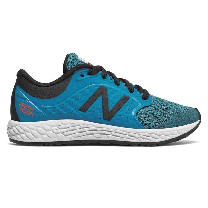 New Balance Kid's Fresh Foam Zante V4 Running Shoe- Maldives Blue