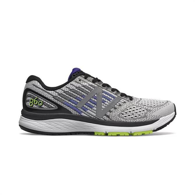 New Balance Men's 860v9 Running Shoes - White/ UV Blue