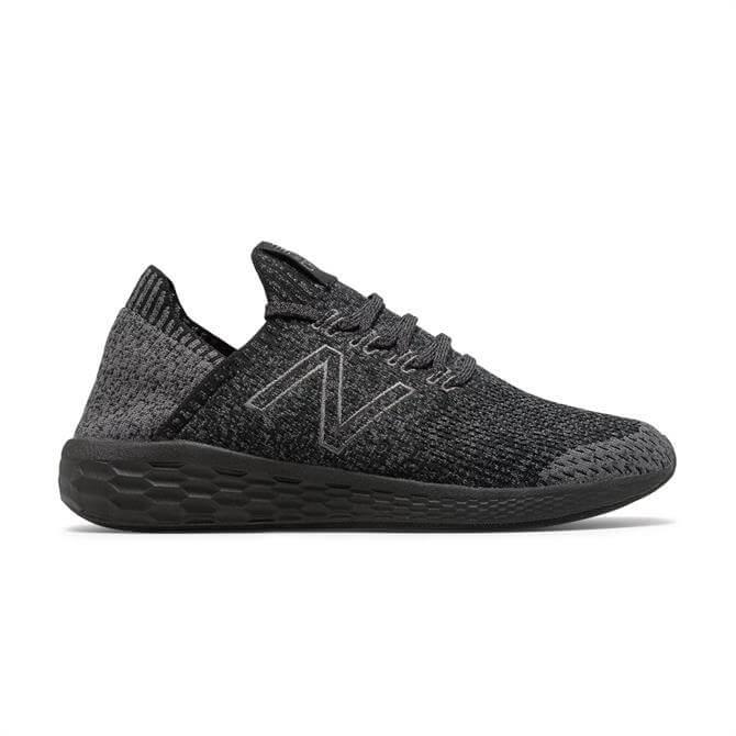 New Balance Men's Fresh Foam Cruz Sock Fit Running Shoe - Magnet/Black