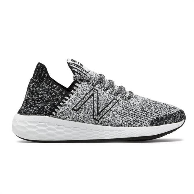 New Balance Women's Fresh Foam Cruz v2 Sock Fit Running Shoe - Black/White