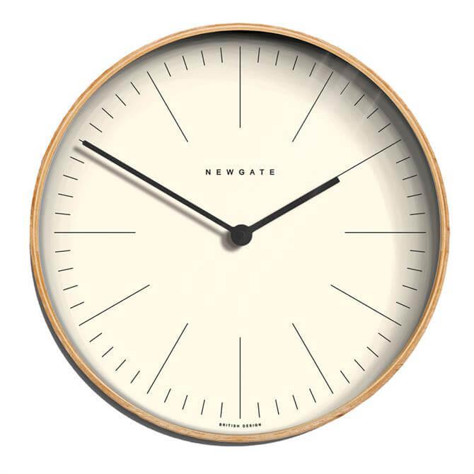 Newgate Medium Mr Clarke Light Plywood Marker Clock
