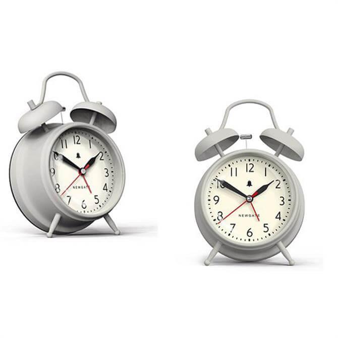 Newgate New Covent Garden Alarm Clock - Overcoat Grey