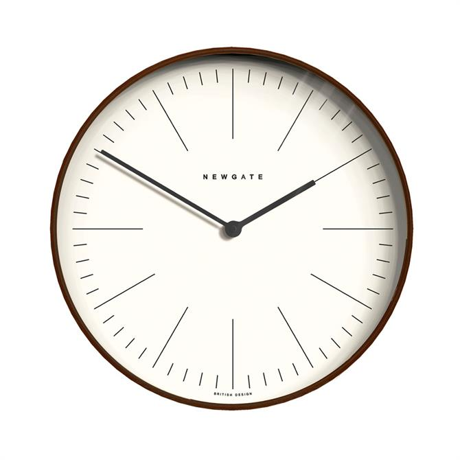 Newgate Small Mr Clarke Dark Plywood Marker Clock