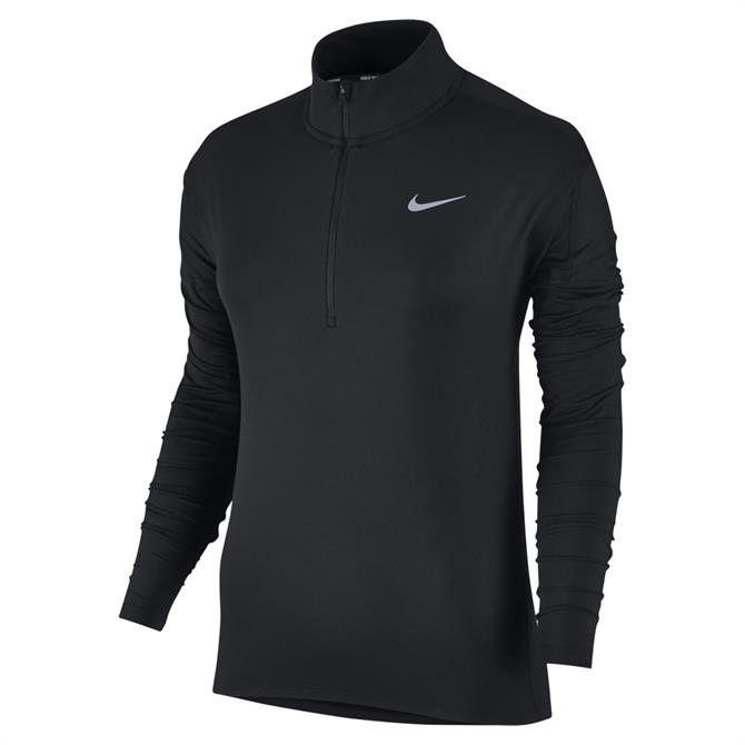 Nike Women's Dri-FIT Element Longsleeve Running Top- Black