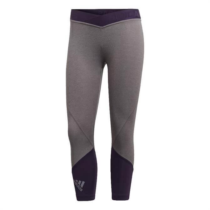 Adidas Women's Alphaskin Sport 2.0 Graphic Tights - Grey/Purple