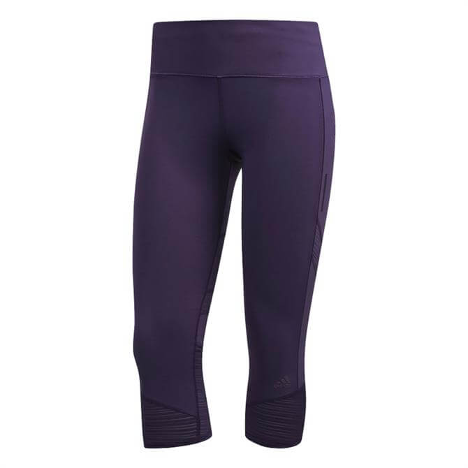 Adidas Women's How We Do 3/4 Fitness Leggings - Legend Purples
