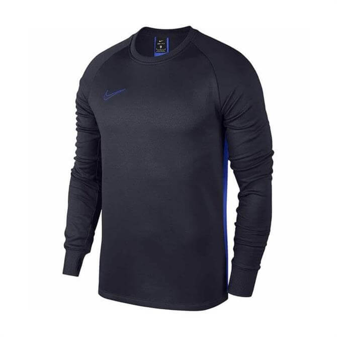 Nike Men's Long Sleeve Therma Academy Football Top- Obsidian