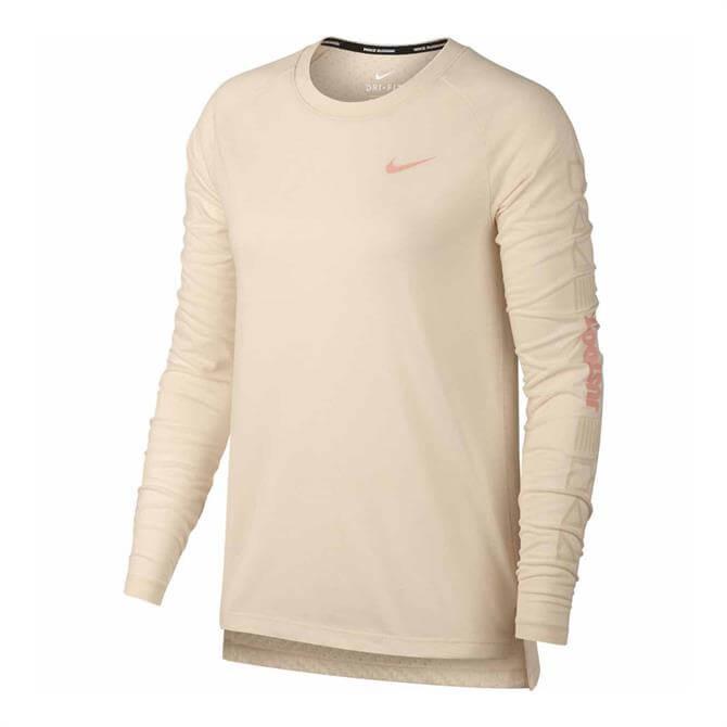 Nike Women's Tailwind Long Sleeve T-Shirt- Guava Ice