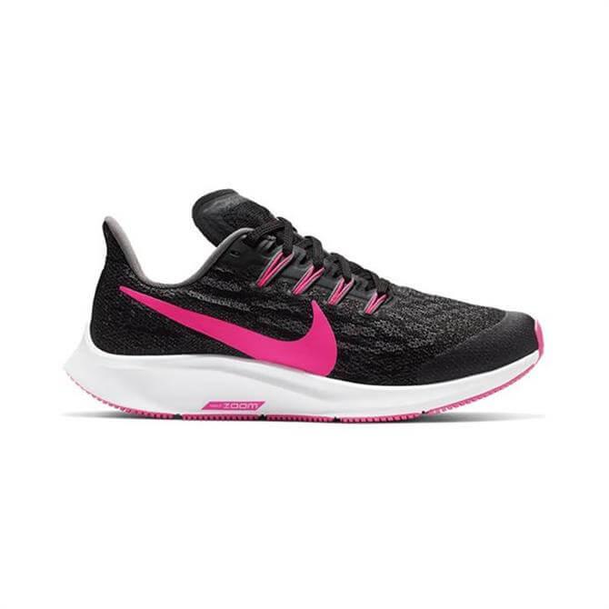 Nike Junior Air Zoom Pegasus 36 Running Shoe (GS) - Black/Hyper Pink