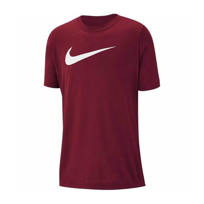 Nike Kid's Dri-FIT Swoosh Short Sleeve T-Shirt - Med Team Red