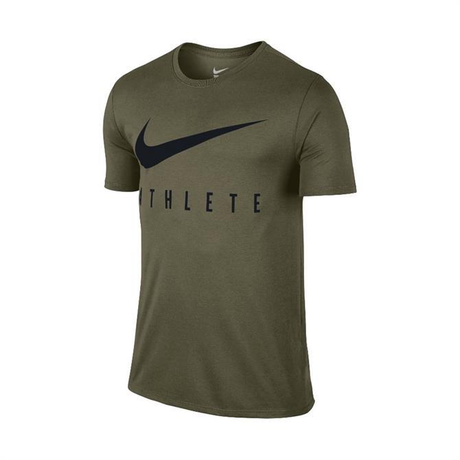 Nike Men's Dry Athlete Short Sleeve T-Shirt - Olive Canvas