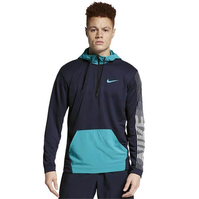 Nike Men's Dri-FIT Fleece Training Hoodie - Obsidian