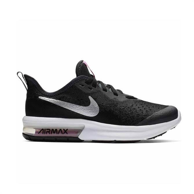 Nike Junior Air Max Sequent 4 Running Shoe - Black
