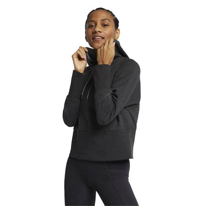 Nike Women's Studio Yoga Pull Over Hoodie - Black Heather