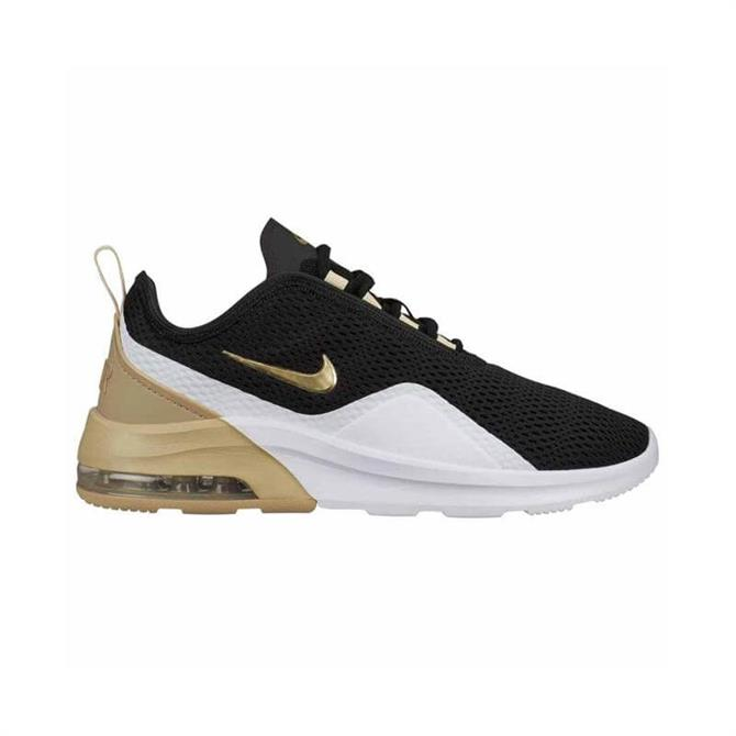 Nike Women's Air Max Motion 2 Trainers - Black/Gold Star